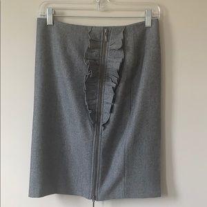 Heathered black pencil skirt